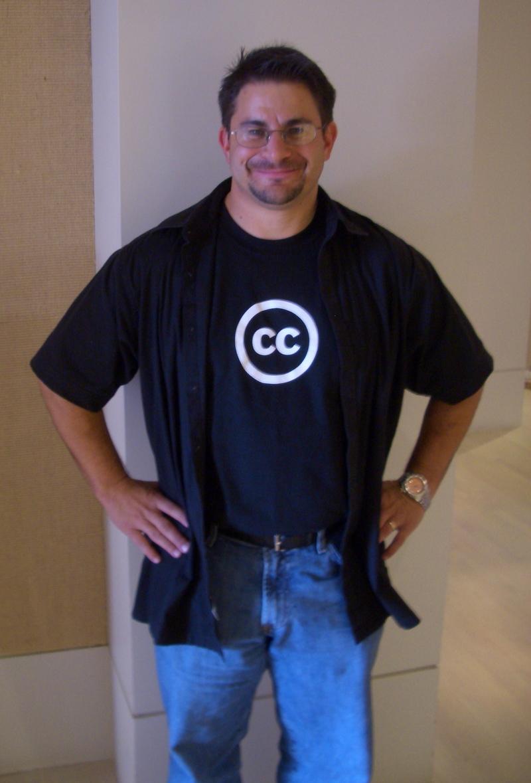 David Wearing His CC Shirt